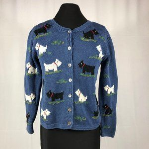 Talbots Hand Knit Scotty Cardigan Sweater S